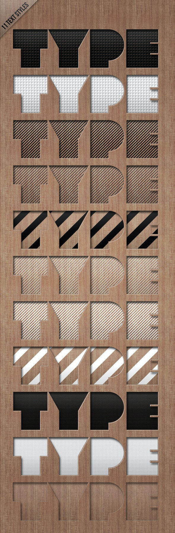 Text Styles LETTERPRESSED - Text Effects Styles