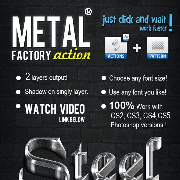 3D Gold & Steel