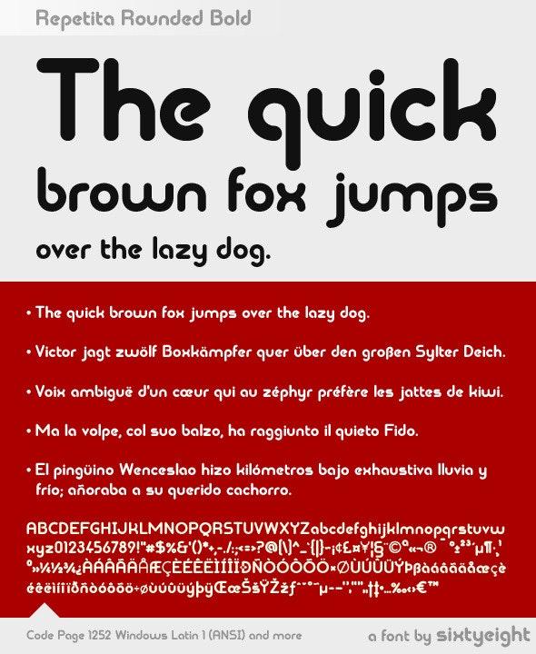 Repetita Rounded Bold - Sans-Serif Fonts
