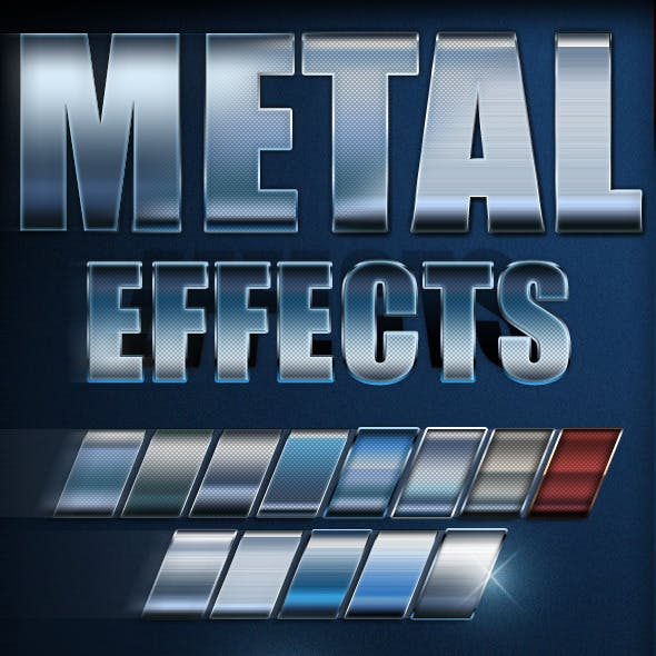 Premium Metal Text Effects
