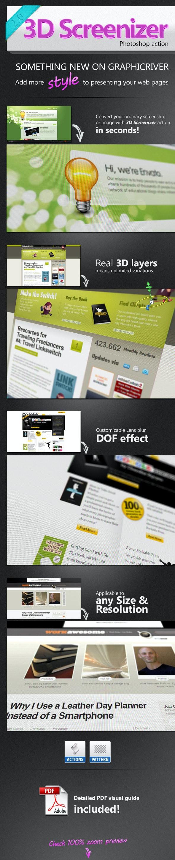 3D Screenizer - Utilities Actions