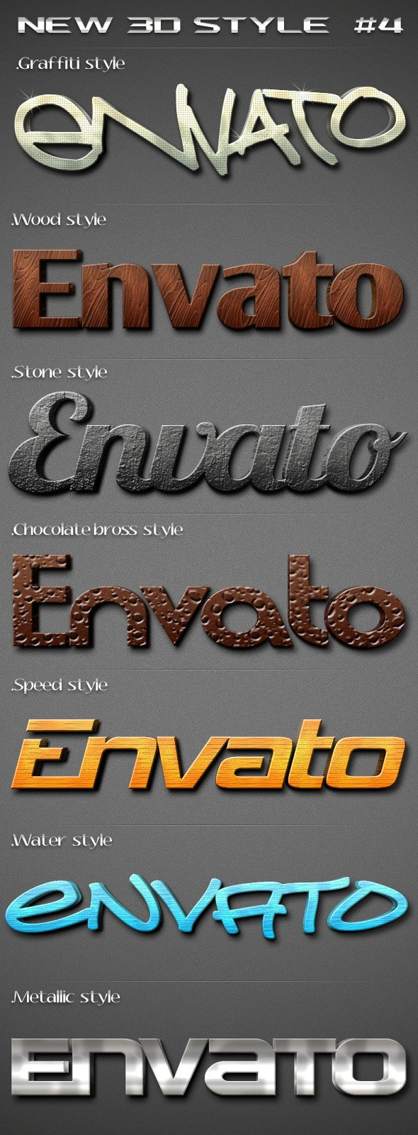 New 3D Text Style 4 - Text Effects Styles