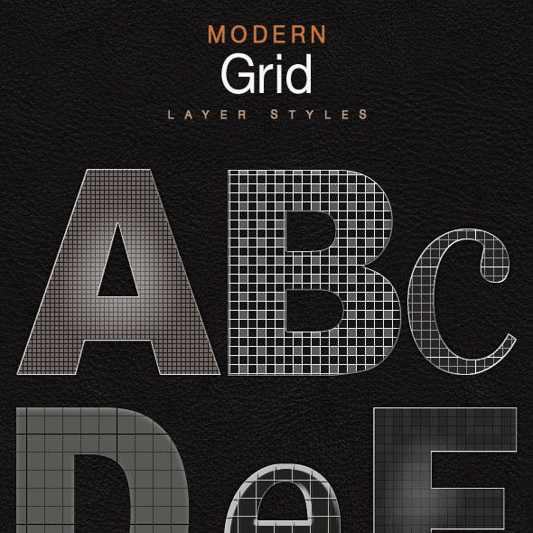 Modern Grid Layer Styles - Mesh & Mosaic