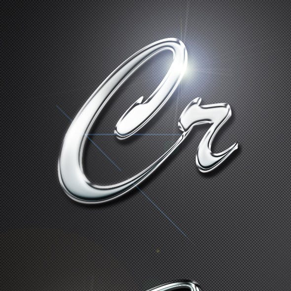 Professional Chrome Text Effects & Styles