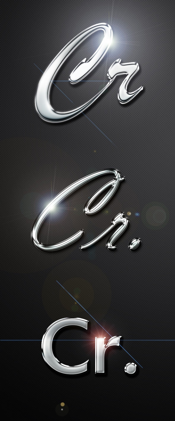 Professional Chrome Text Effects & Styles - Photoshop Add-ons