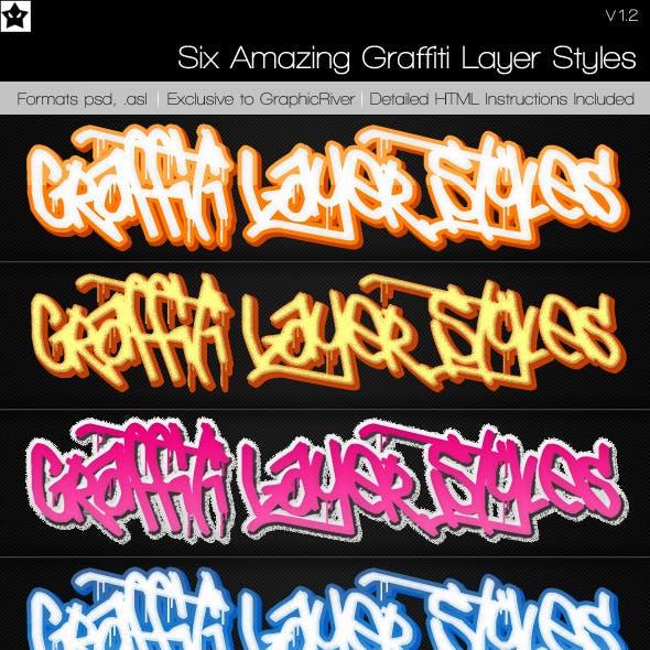 6 Graffiti Layer Styles