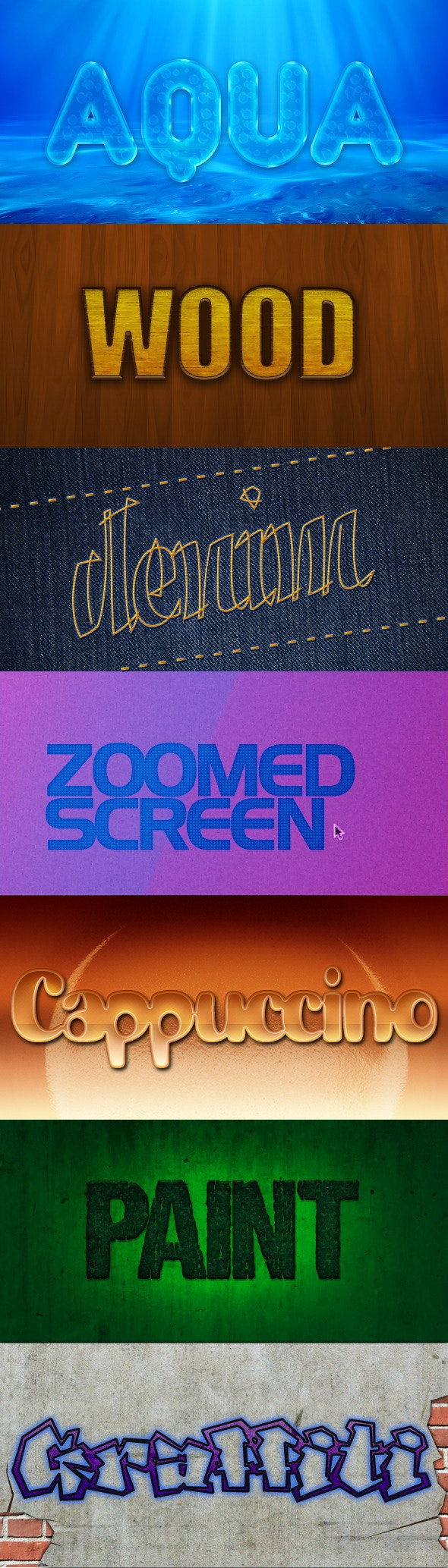 7 Perfect Photoshop Text Styles - Text Effects Styles