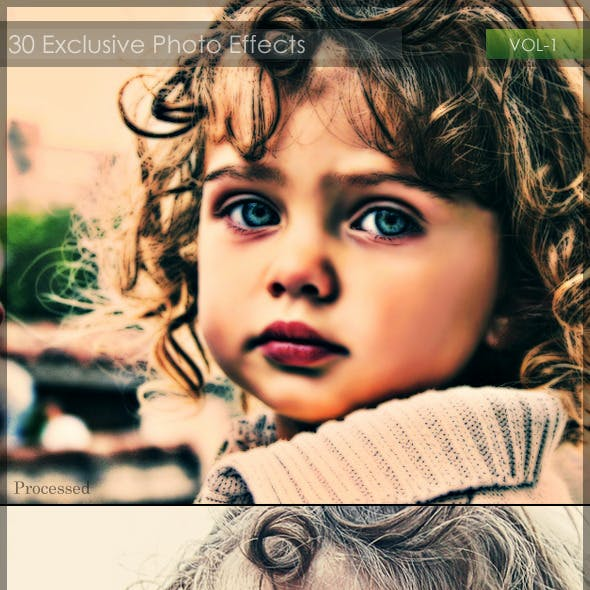 30 Exclusive Photo Effects Action Pack VOL-1