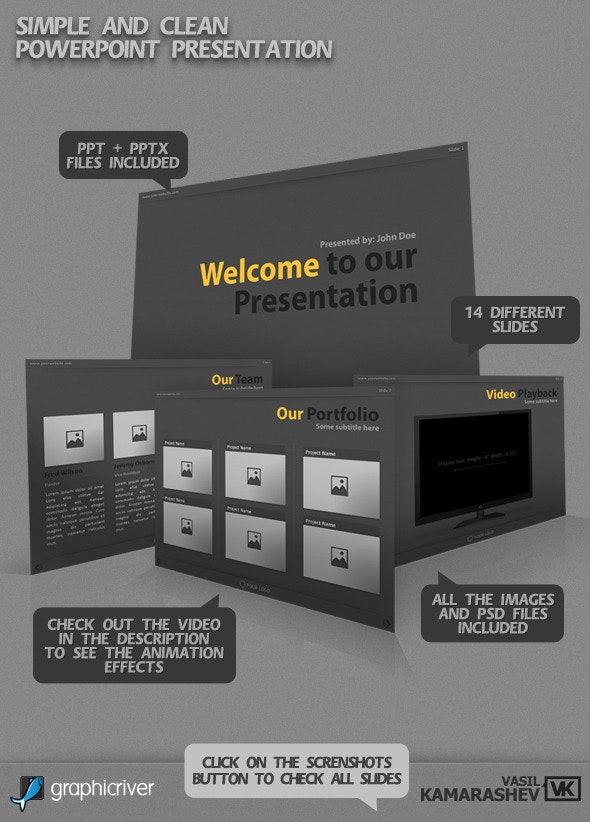 Simple and Clean PowerPoint Presentation