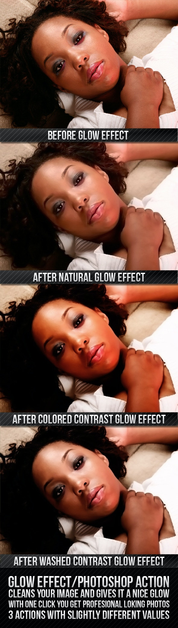 GLOW EFFECT - Photo Effects Actions