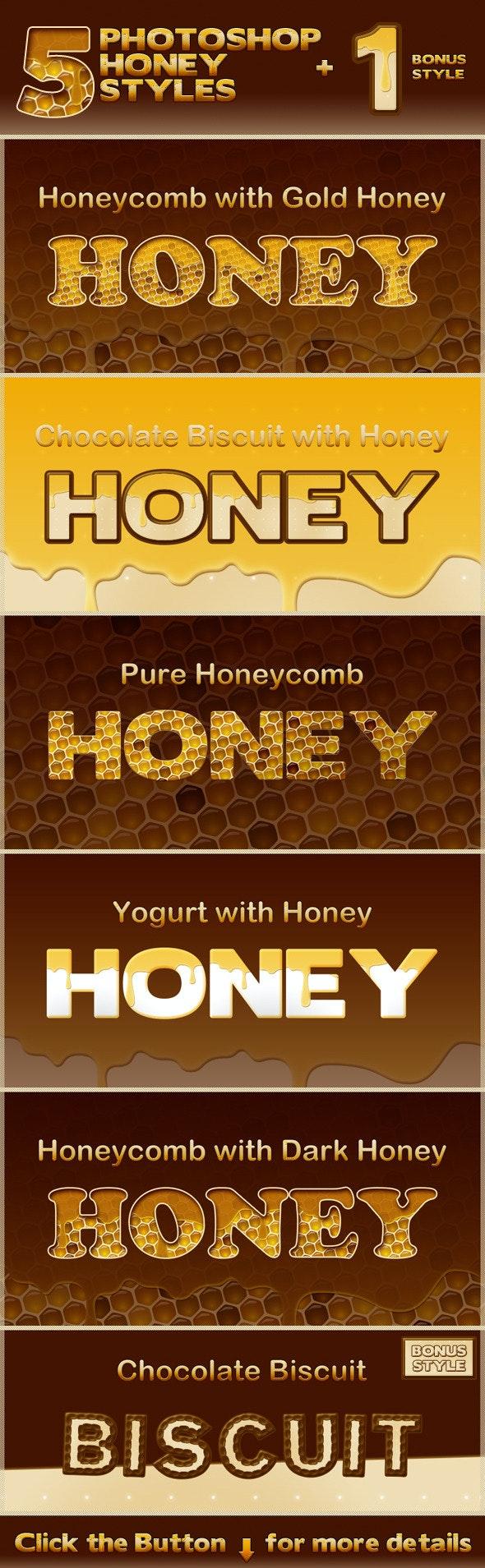Honey Photoshop Styles - Text Effects Styles