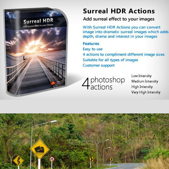 Surreal HDR Actions