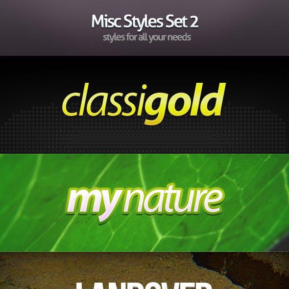 Misc Styles Set 2