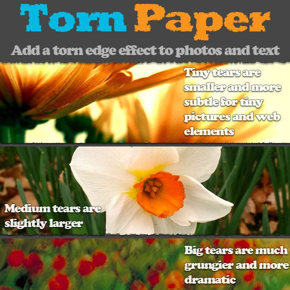 Torn Paper Photoshop Actions