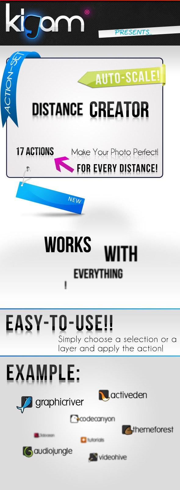 Distance Creator Action - Utilities Actions