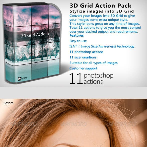 3D Grid Action Pack