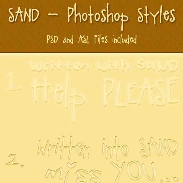 Sand Photoshop Styles