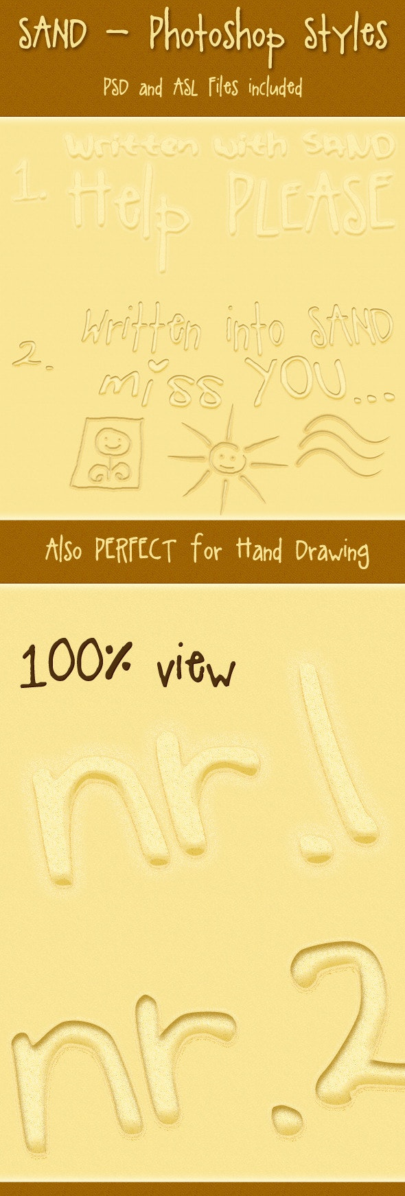 Sand Photoshop Styles - Text Effects Styles