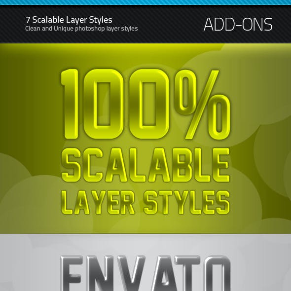 7 Scalable Layer Styles