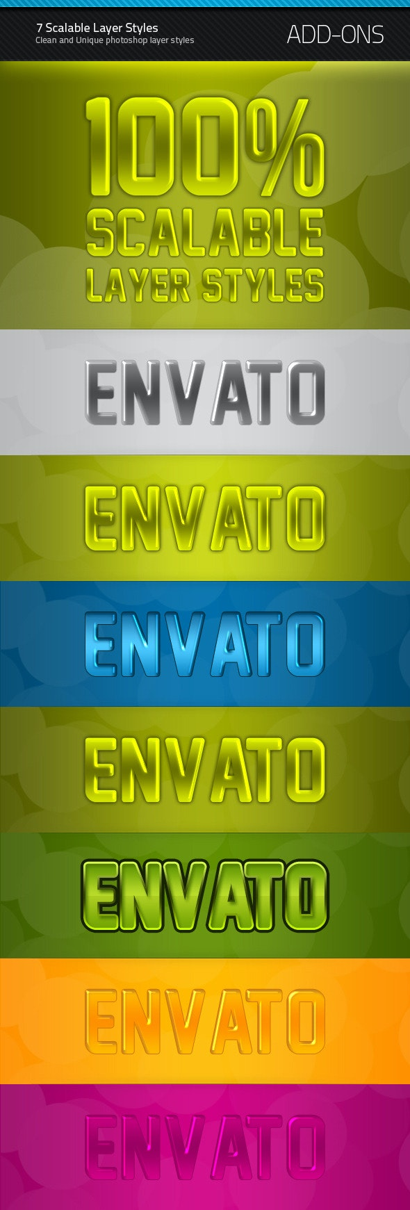 7 Scalable Layer Styles - Text Effects Styles