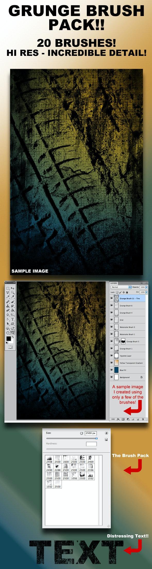 Photoshop Grunge Theme Brush Set - Grunge Brushes