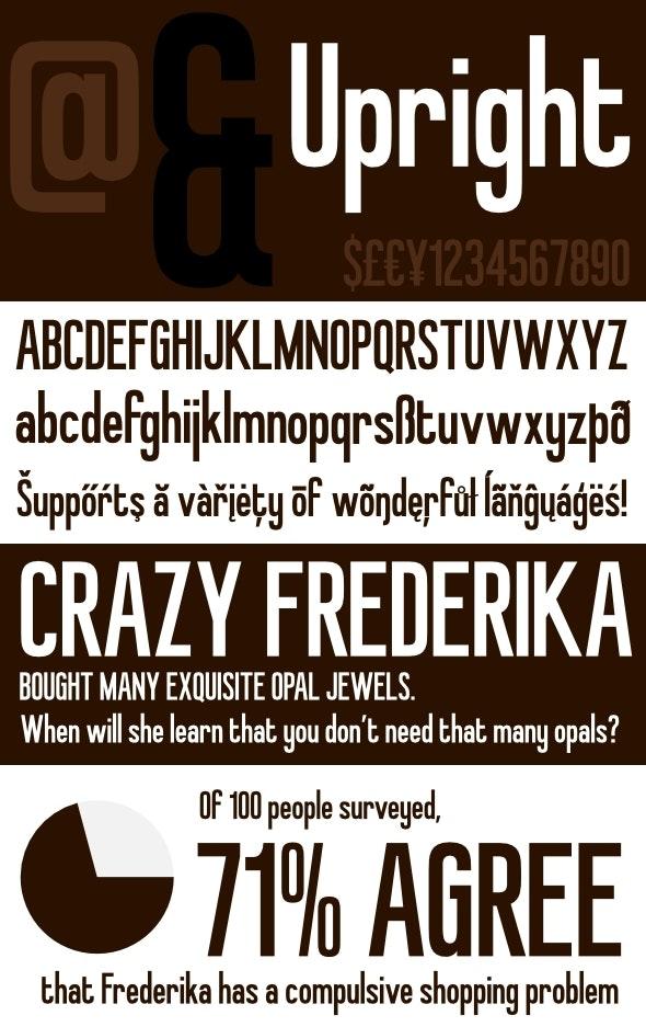 Upright - Retro Inspired Headline Font - Condensed Sans-Serif