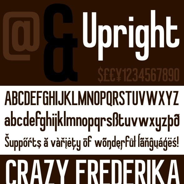 Upright - Retro Inspired Headline Font
