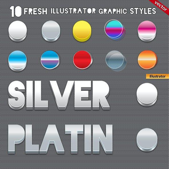 10 3D Fresh Illustrator Graphic Styles