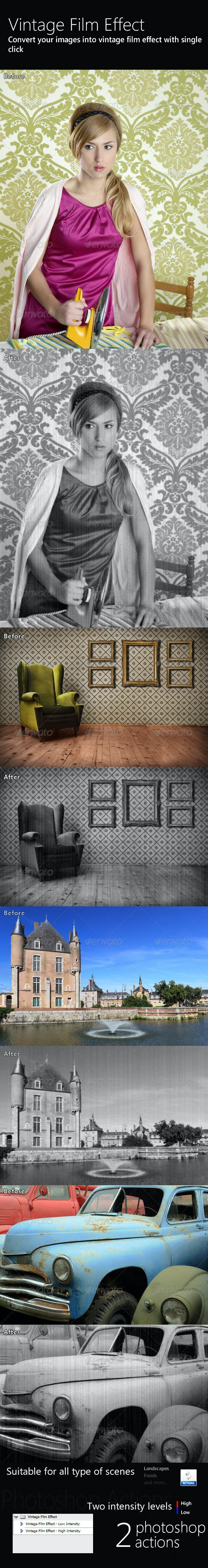 Vintage Film Effect - Photo Effects Actions