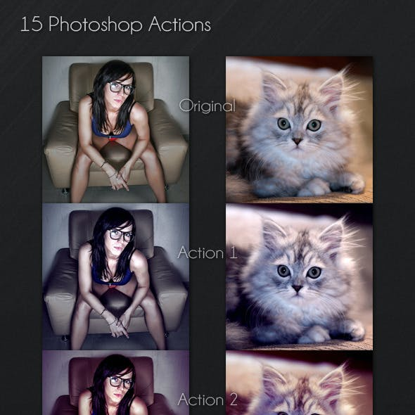 15 Photoshop Actions