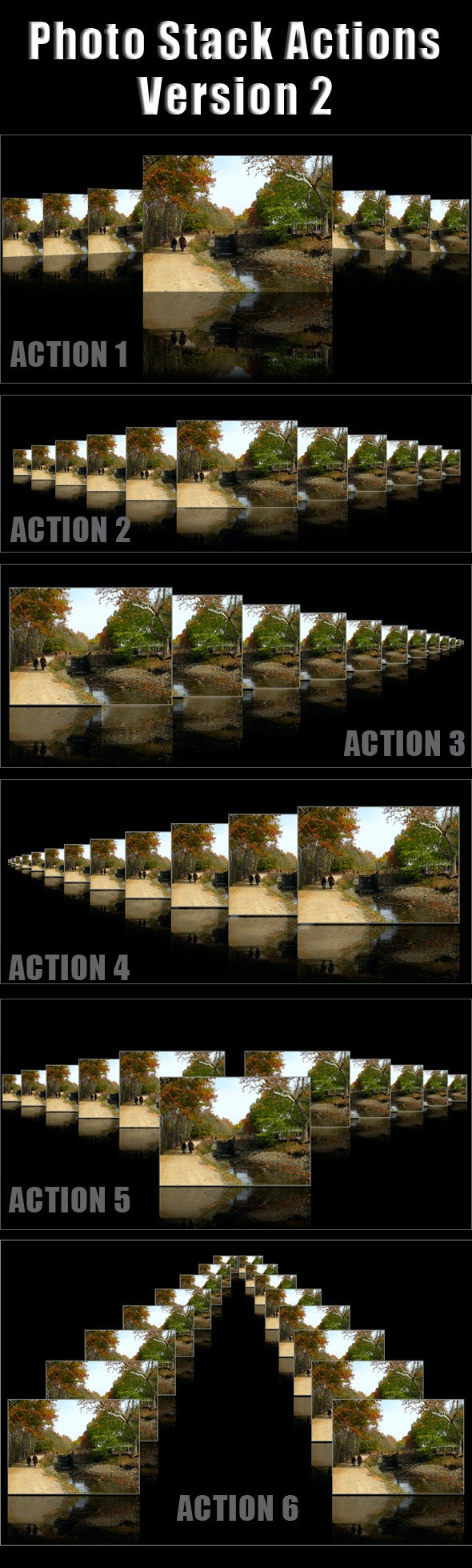 Different Photo Stack Actions - Utilities Actions
