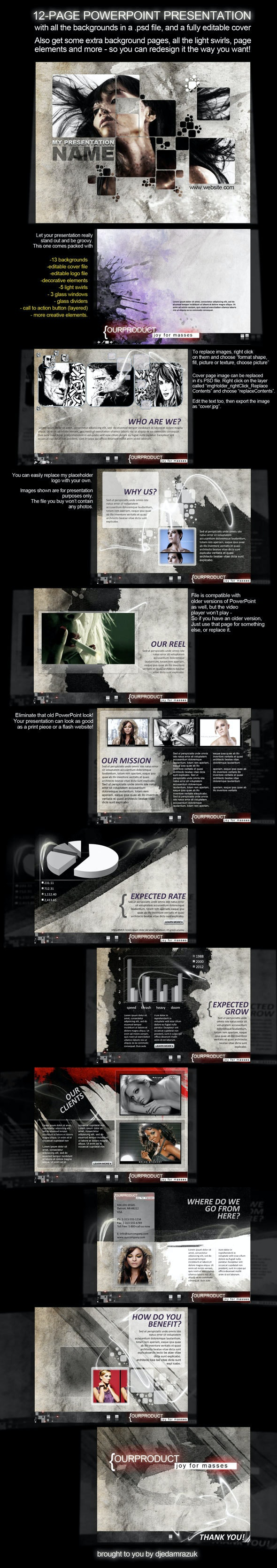 12-Page PowerPoint Presentation - Splash - Creative PowerPoint Templates