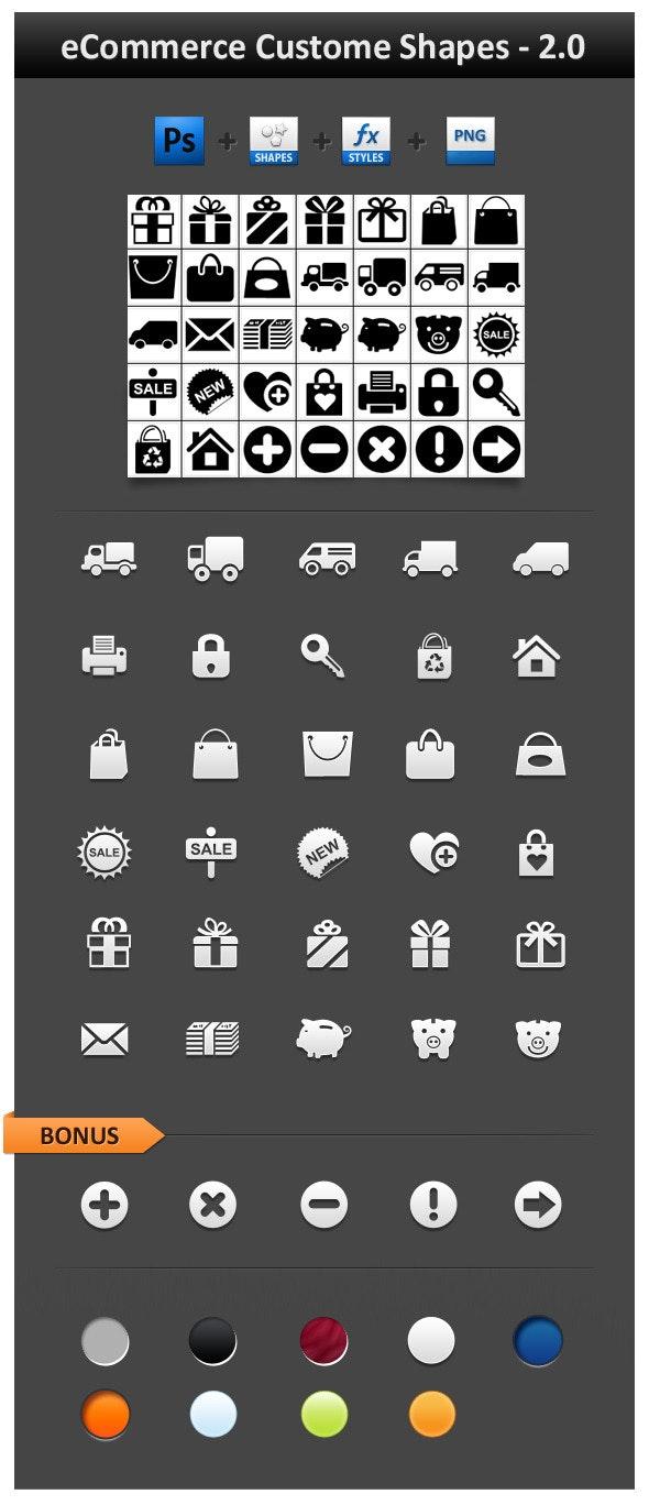eCommerce Custom Shapes 2.0 - Objects Shapes