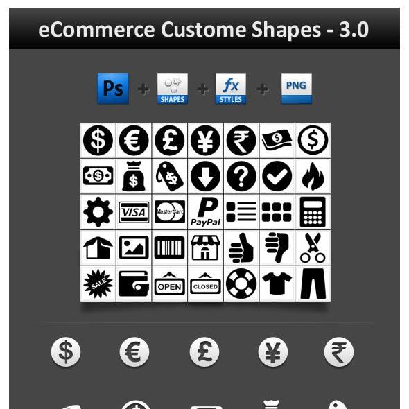 eCommerce Custom Shapes 3.0