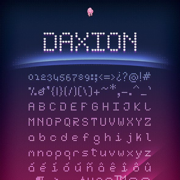 Daxion Dotted Font