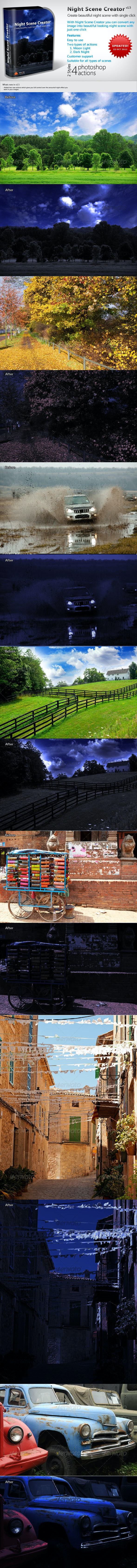 Night Scene Creator  - Photo Effects Actions