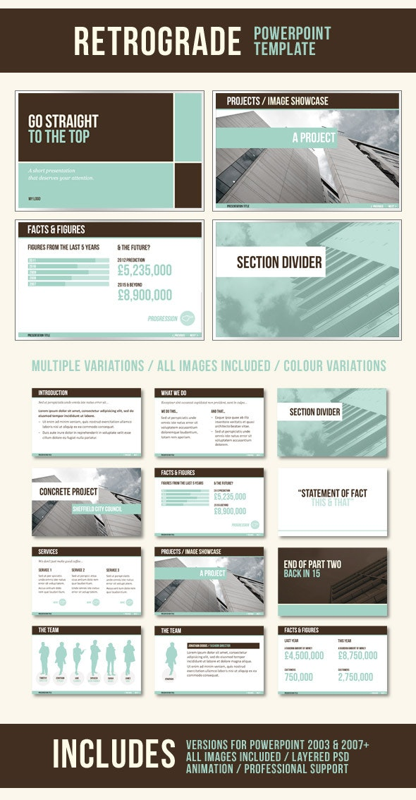 RetroGrade PowerPoint Template - PowerPoint Templates Presentation Templates