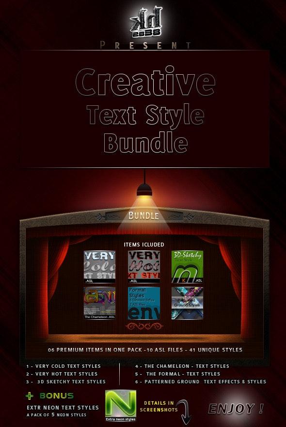 Creative Text Styles Bundle  - Text Effects Styles