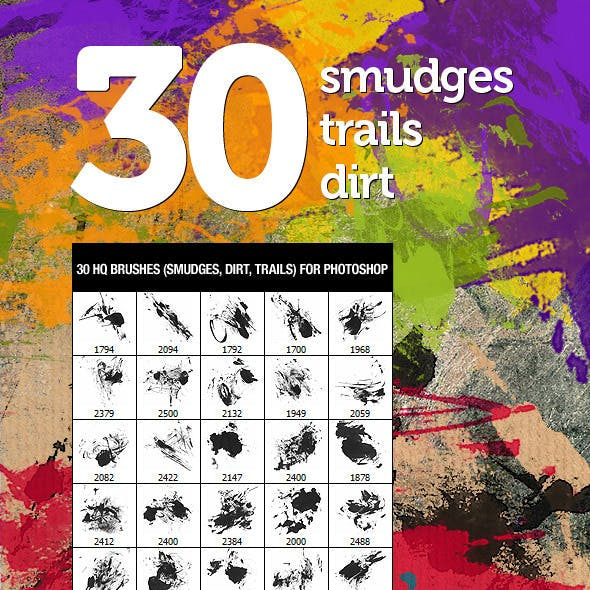 30 Dirt Smudges & Trails
