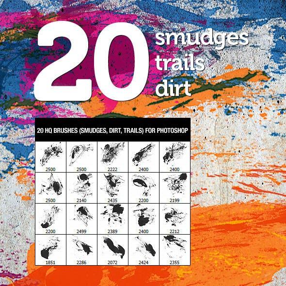 20 Dirt Smudges & Trails 4