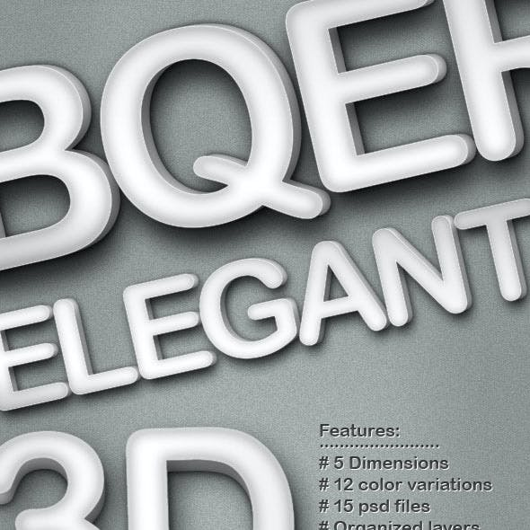 Elegant 3D Text Style - 5 Dimensions