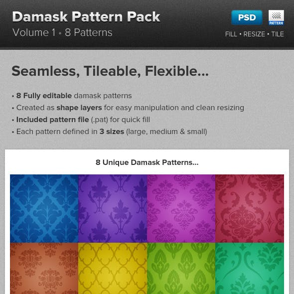 Damask Pattern Backgrounds