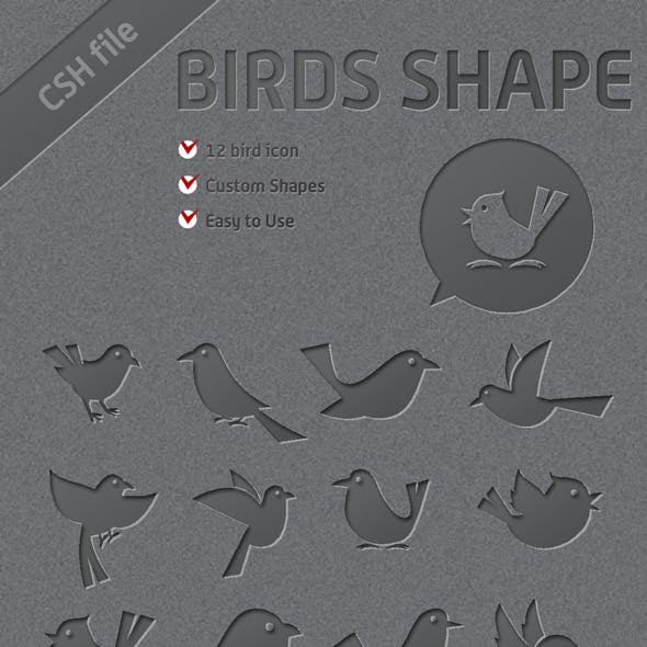 12 Custom Bird Shapes You Can Use it for Twitter