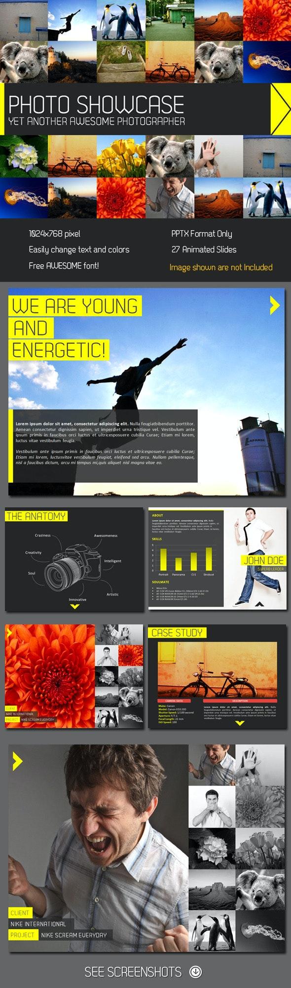 Showcase PowerPoint Presentation - Creative PowerPoint Templates