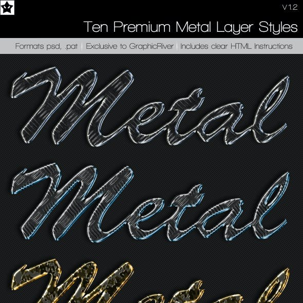 10 Premium Metal Layer Styles