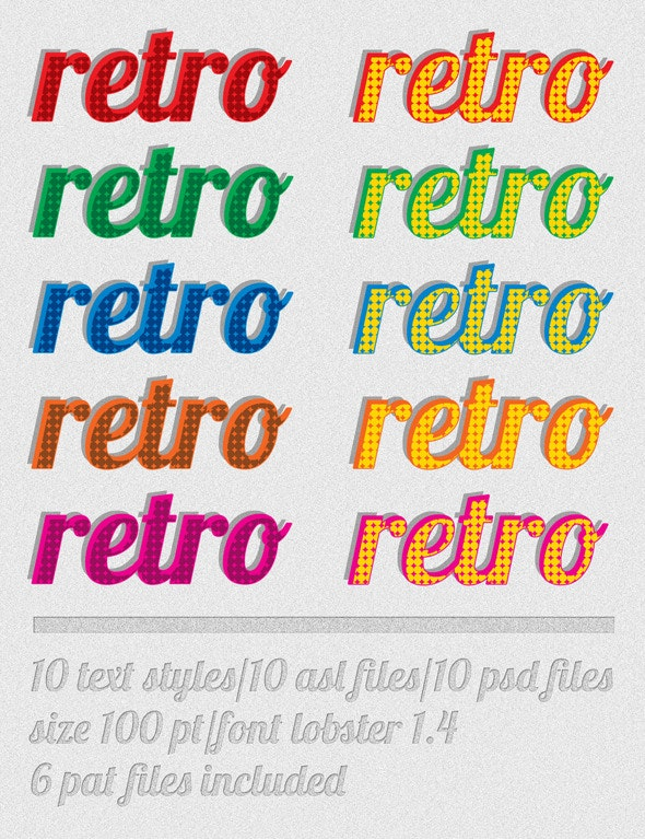 Retro Type - Text Effects Styles