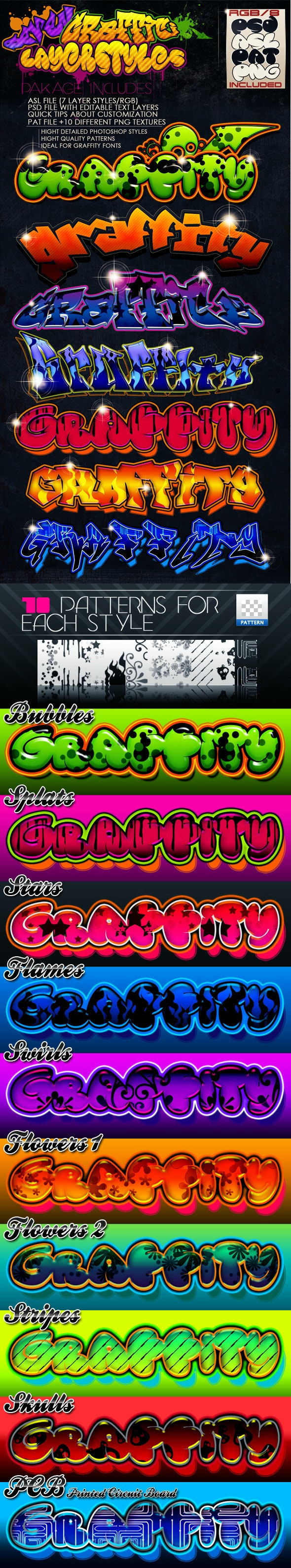 Graffiti Layer Styles - Text Effects Styles