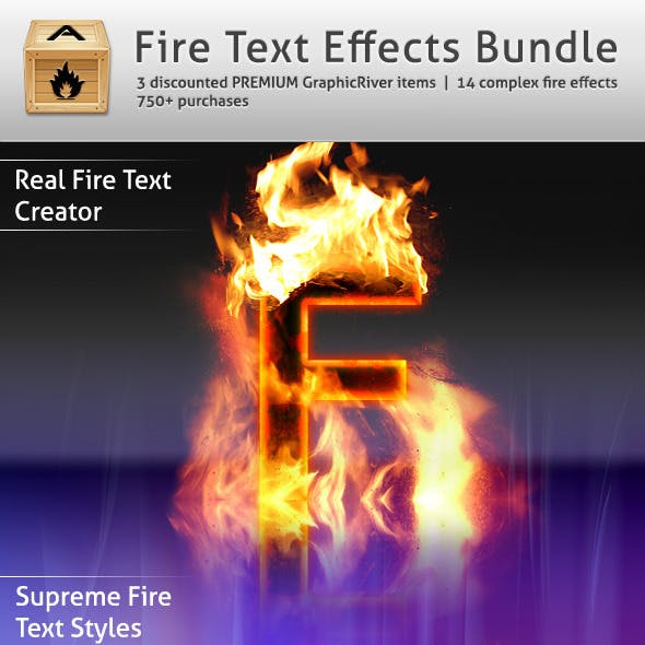Fire Text Effects Bundle