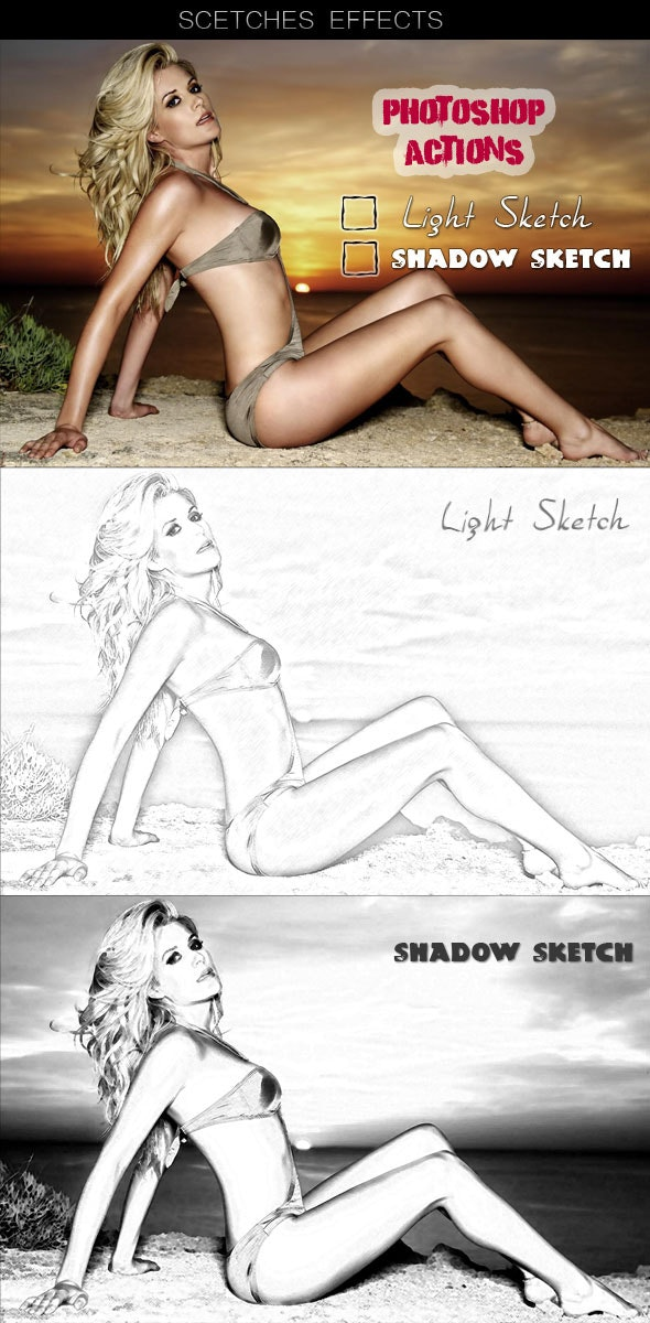 Action Sketches Effects - Photo Effects Actions