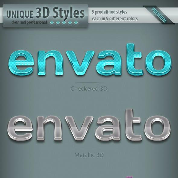 3D Text Styles - Part 2